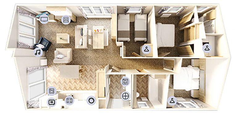Willerby Pinehurst Floorplan